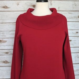 Kim Rogers Dresses - Kim Rogers vowel neck red sweater dress Med